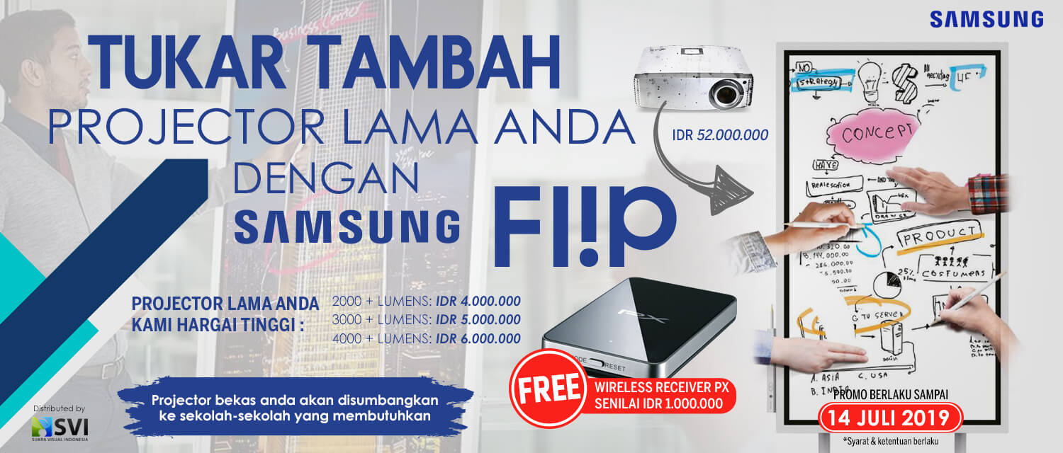 promo samsung flip trade-in projector